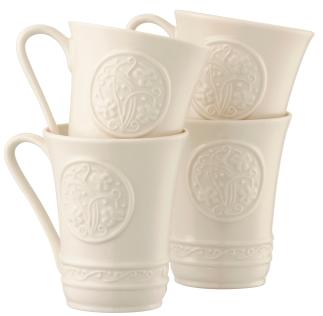 Belleek Irish Craft Mugs (Set of 4)