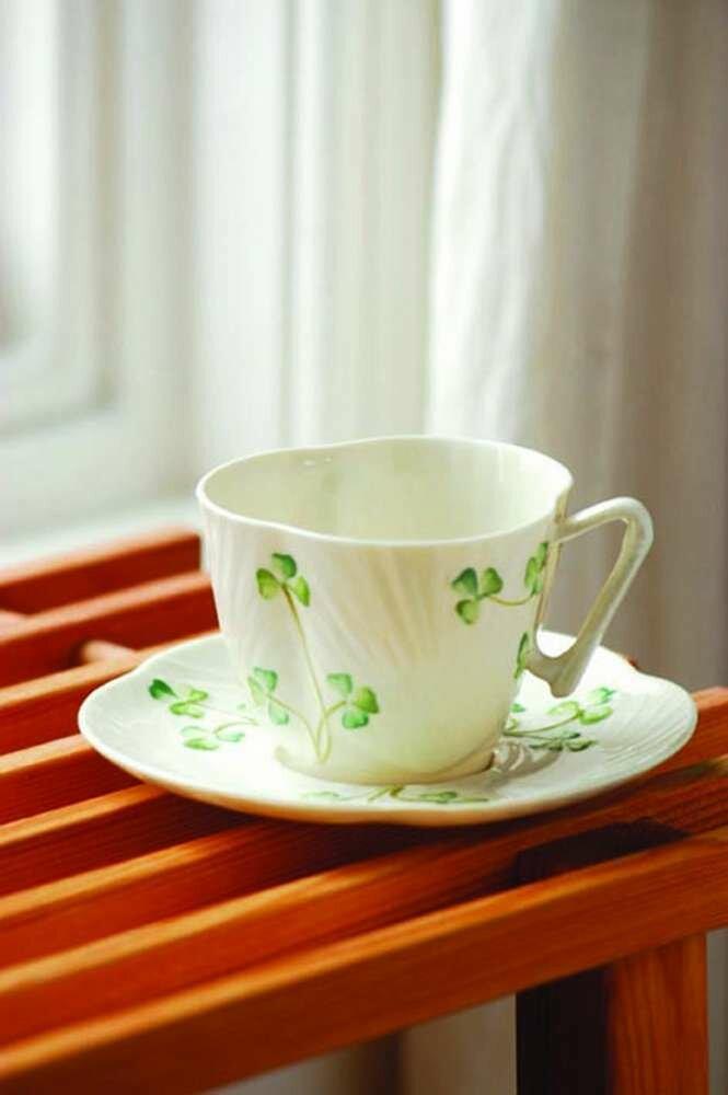 Harp Shamrock Tea Cup and Saucer