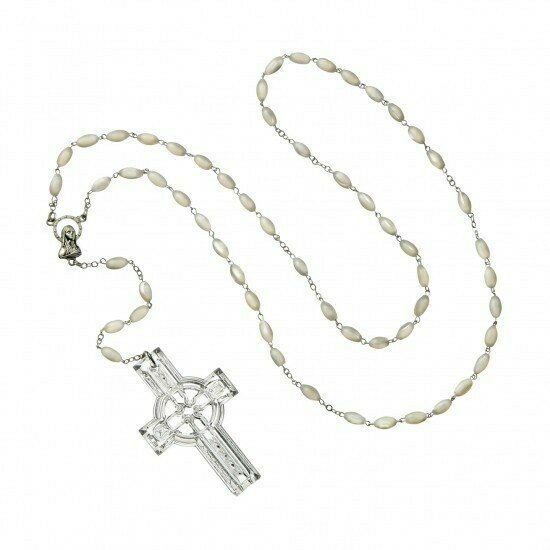 Waterford® Celtic Rosary Beads with Crystal Cross