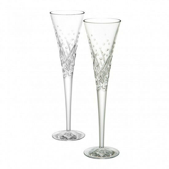 Waterford® Wishes Happy Celebrations Toasting Flute, Pair