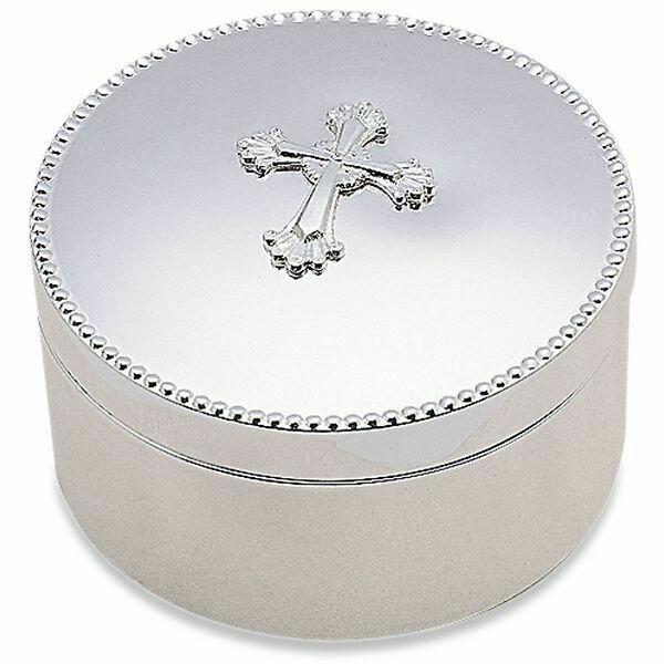 Abbey Cross Silverplate Keepsake Box