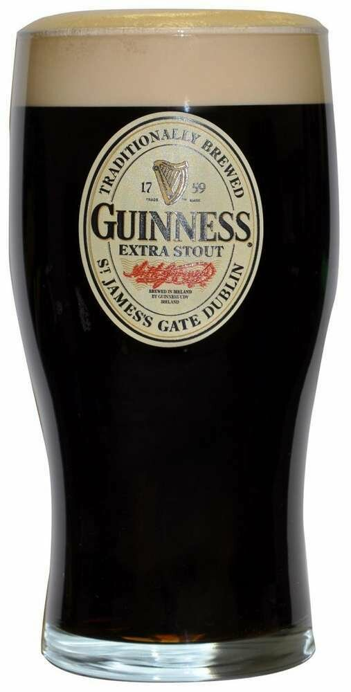 Guinness® Oval Label 20oz Pint Glass
