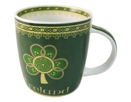 Ireland Mug- Shamrock Spiral