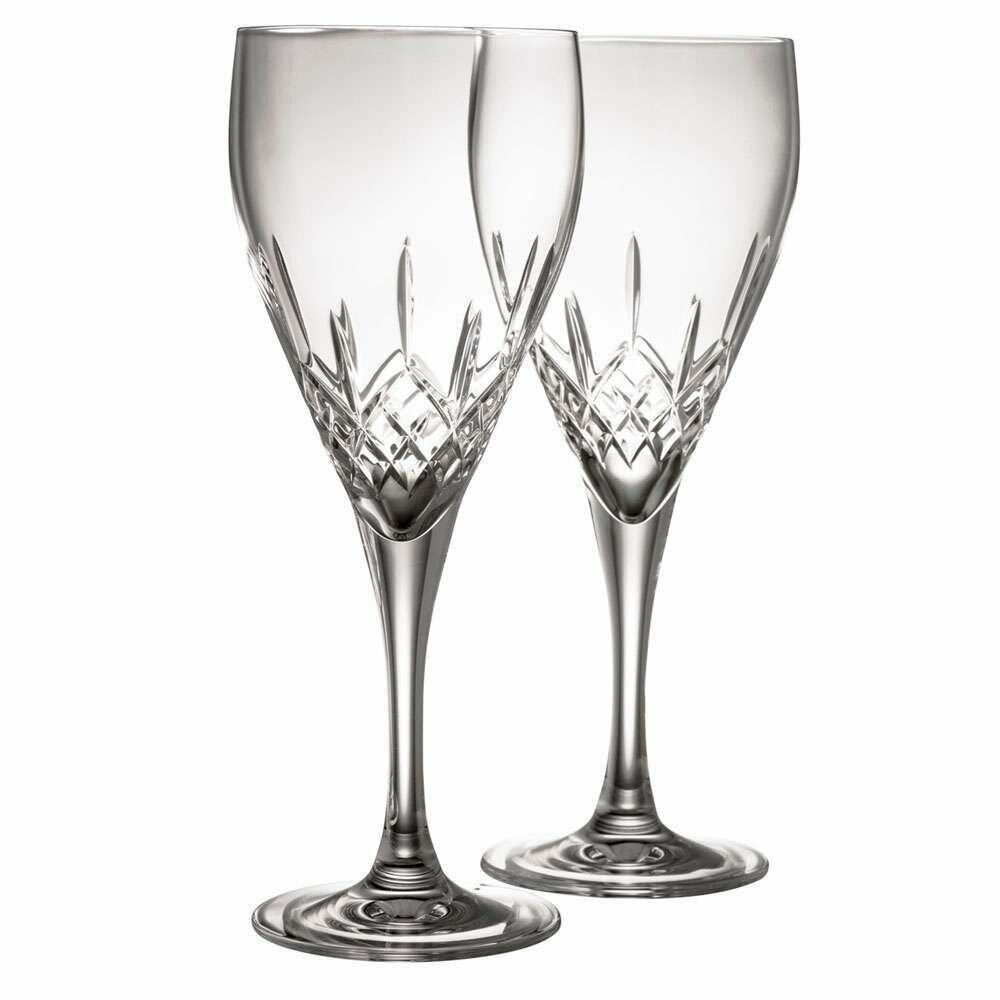 Galway Irish Crystal Longford Red Wine Pair