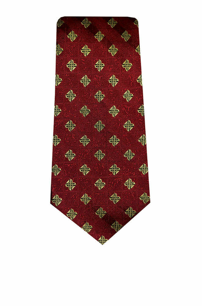 Silk Tie- Red Celtic Origins Design