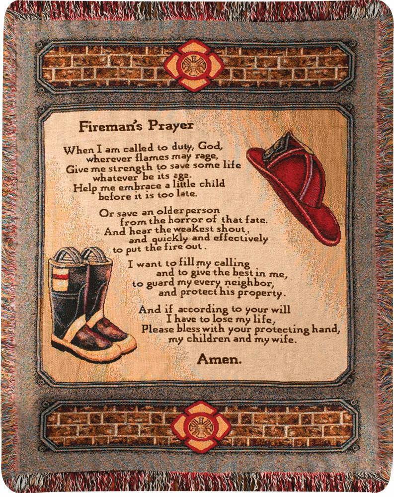 Fireman's Prayer Blanket