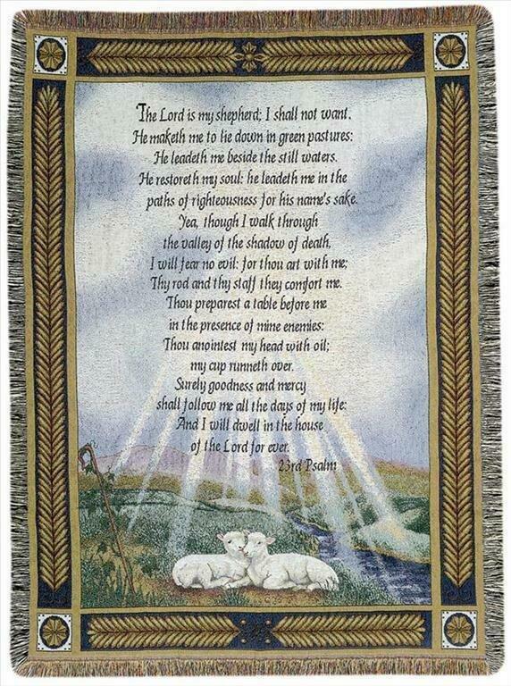 23rd Psalm Blanket
