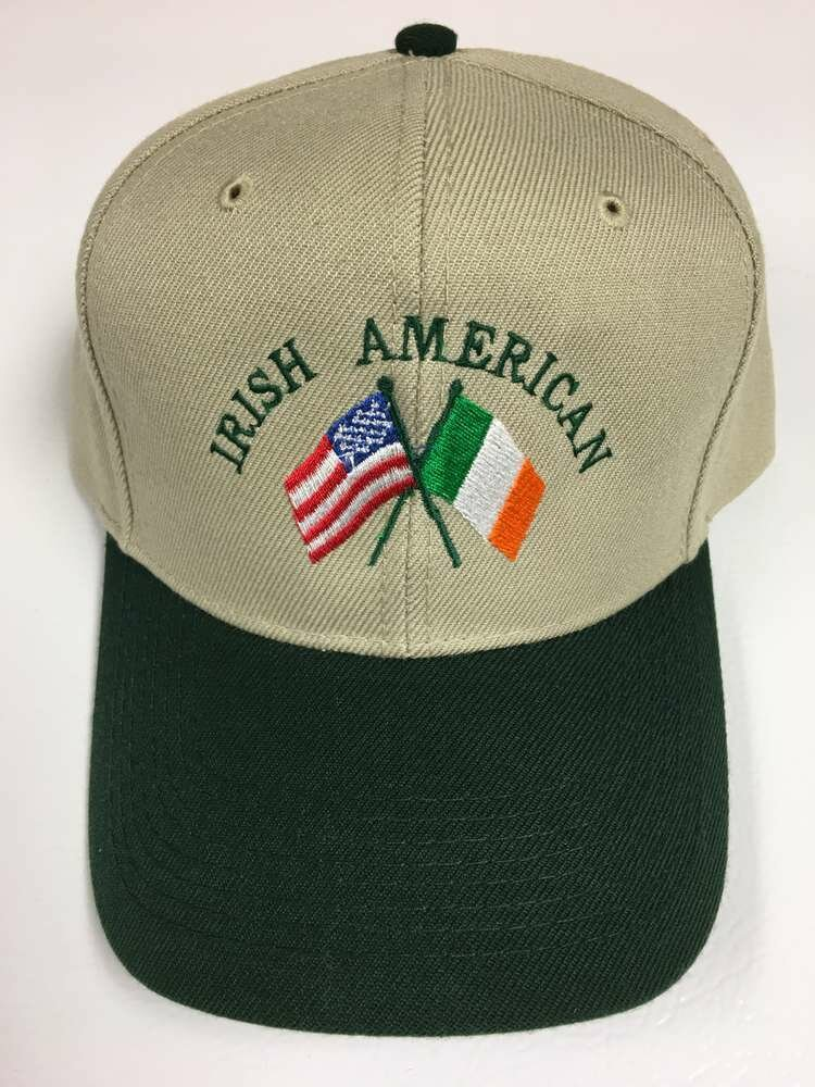 Irish American Flags Hat- Two-Toned