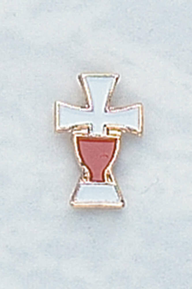 Enameled Cross Lapel Pin