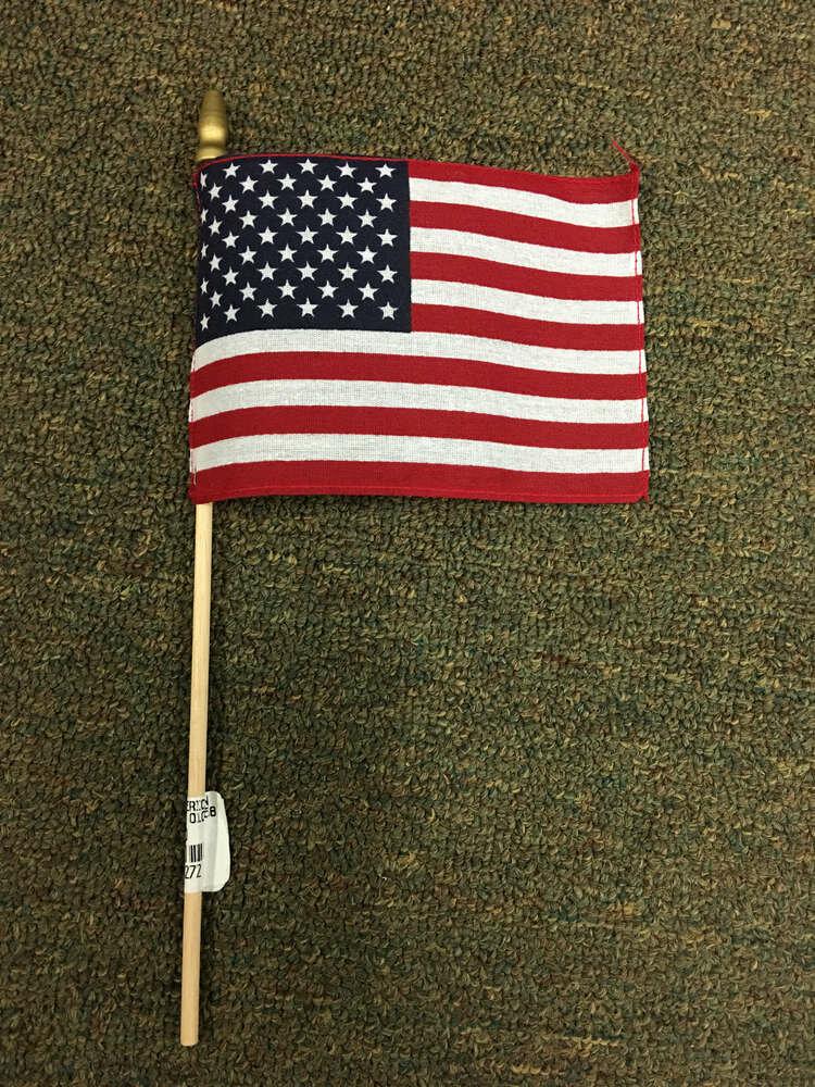 "4"" x 6"" American Stick Flag"
