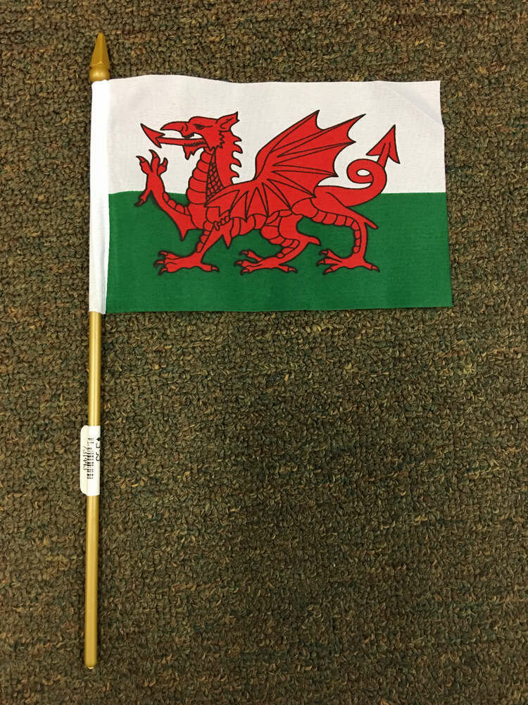 "4"" x 6"" Welsh Stick Flag"