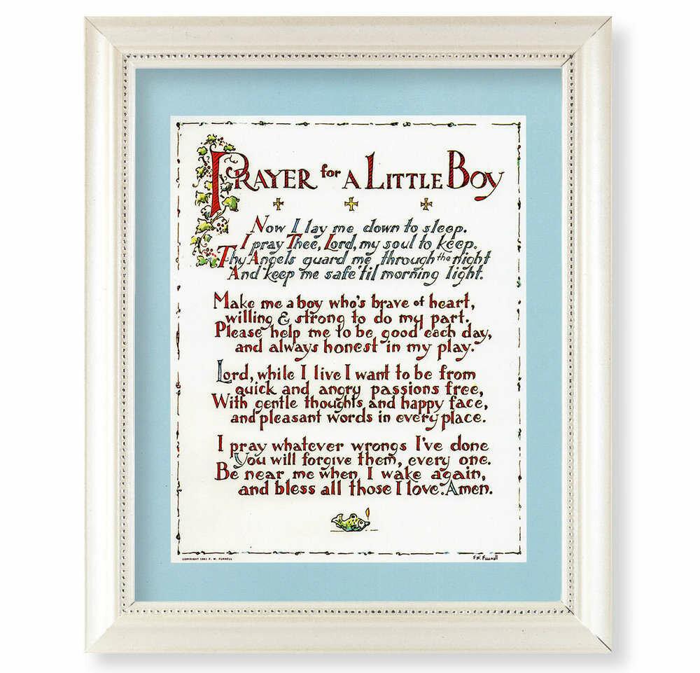 Prayer for a Little Boy Framed Picture