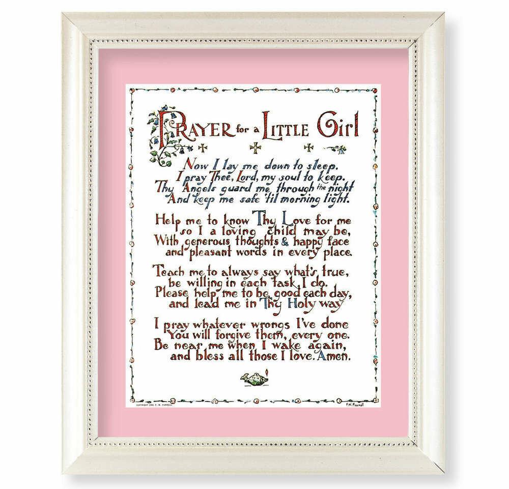 Prayer for a Little Girl Framed Picture
