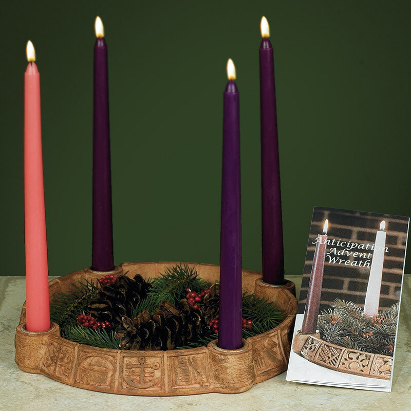 Anticipation Advent Wreath Candleholder (candles included)