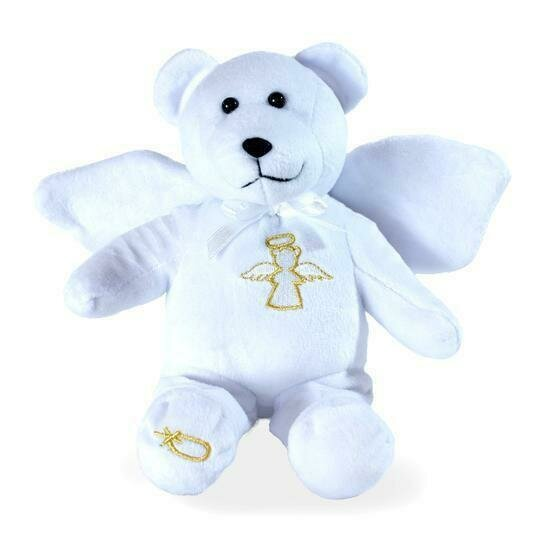 "Guardian Angel 9"" White Holy Bear"
