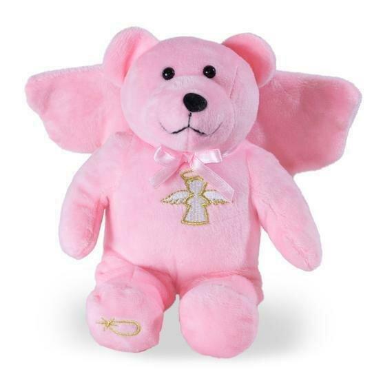 "Guardian Angel 9"" Pink Holy Bear"
