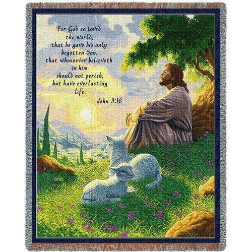 John 3:16 Green Pastures Blanket