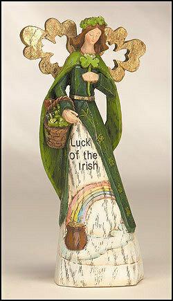 """10"""" Irish Angel Figurine"""