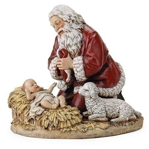 """8"""" Kneeling Santa Figurine"""