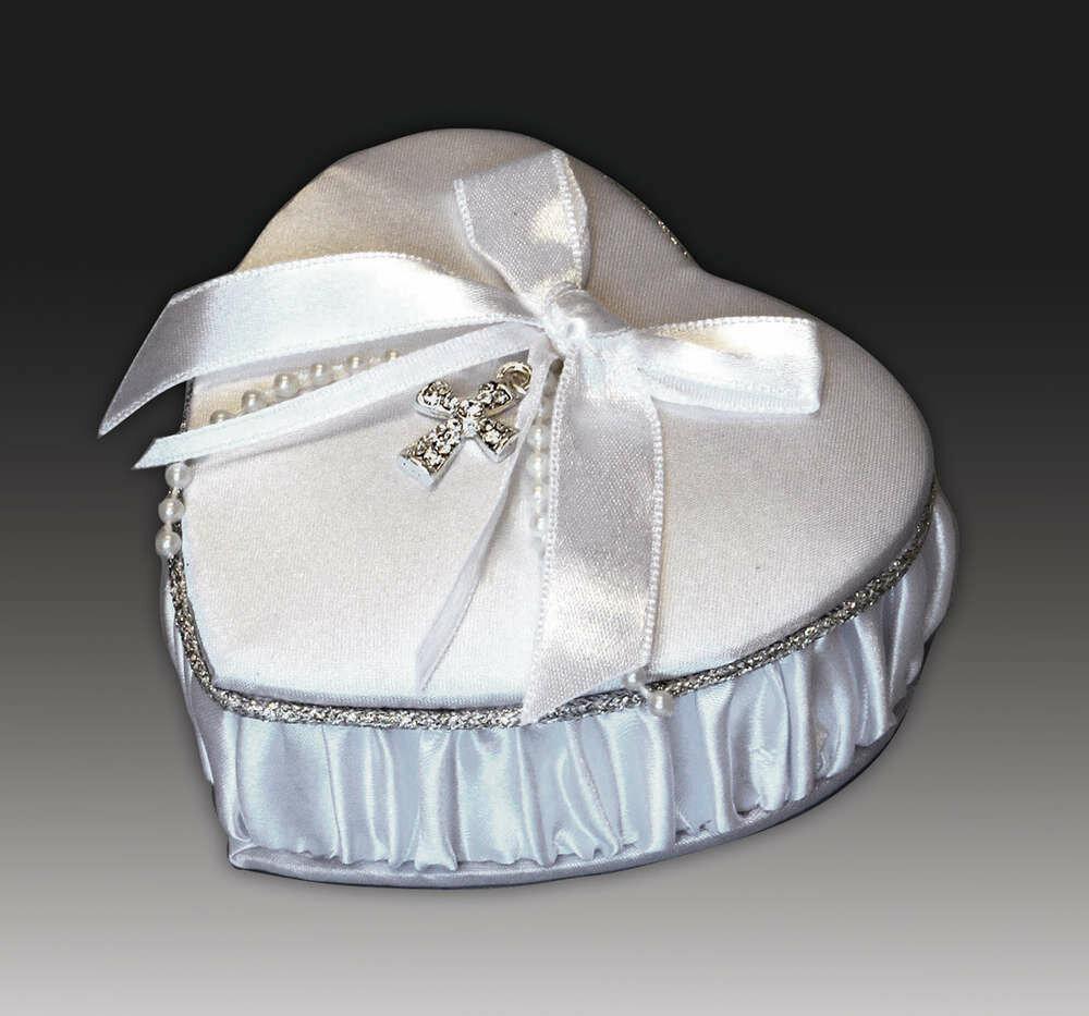Satin Heart Shaped Keepsake Box