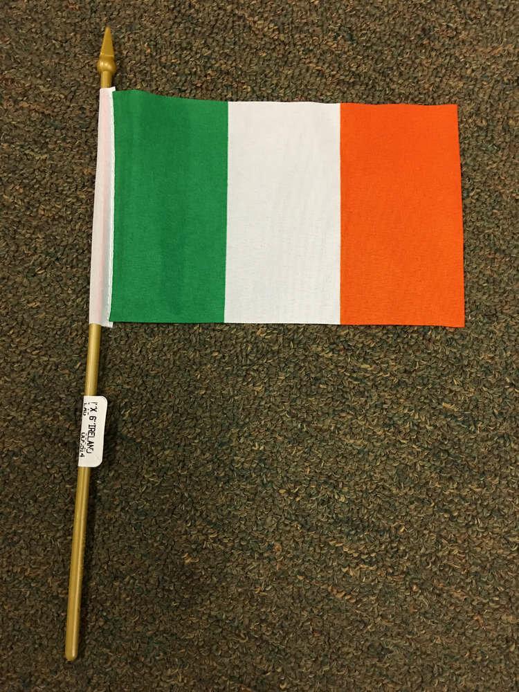 "4"" x 6"" Ireland Stick Flag"