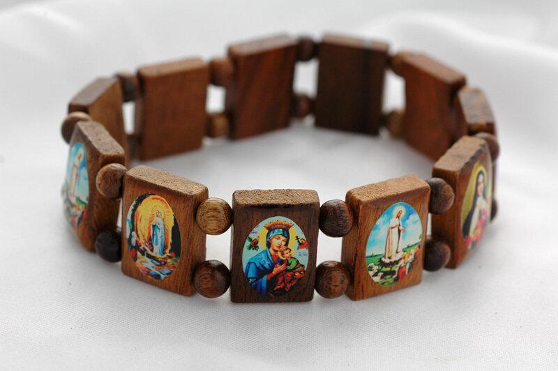 Brazilian Wood Bracelet- Various Saints, XL Fit