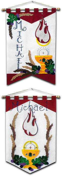 DELUXE First Communion Banner Kit, 12 in. x 18 in., Holy Spirit