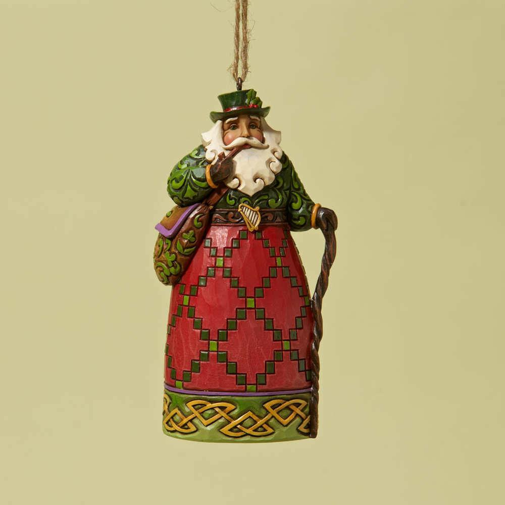 Irish Santa Hanging Ornament