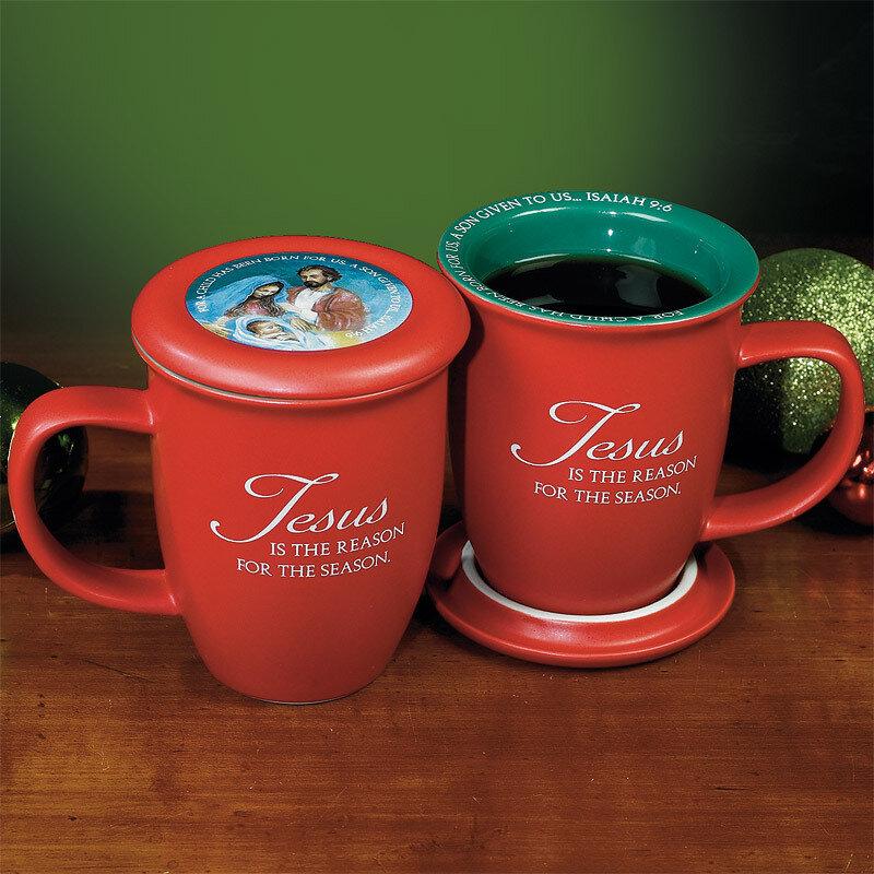 """Jesus is the Reason"" Mug and Coaster Set"