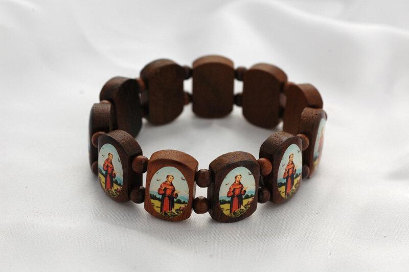 Brazilian Wood Bracelet- St. Francis