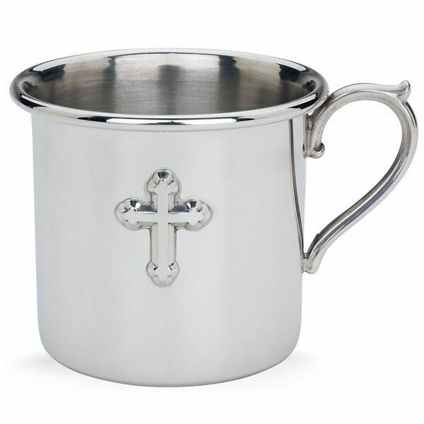 Cross Pewter Baby Cup