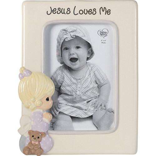 Jesus Loves Me Praying Girl Photo Frame