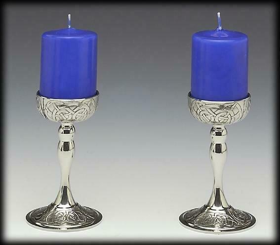 Mullingar Pewter Kells Candlesticks (Set of Two)