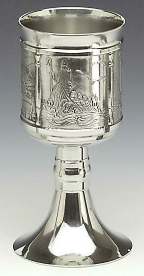 "Mullingar Pewter St. Patrick's Chalice (8"" high)"