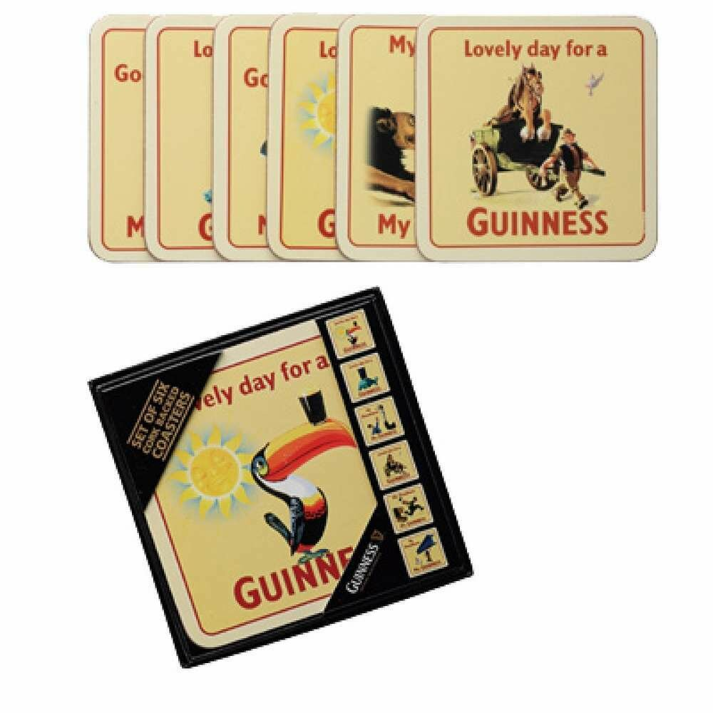 Guinness® Cork Backed Coasters -Set of 6