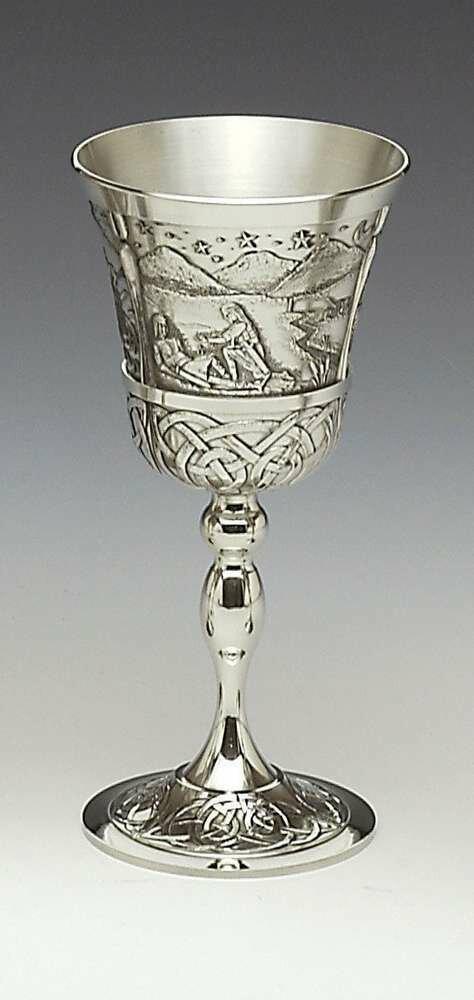 Mullingar Pewter Mythical Ireland Goblet- Na Fianna