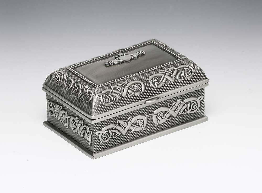 Mullingar Pewter Claddagh Jewellery Box- Medium