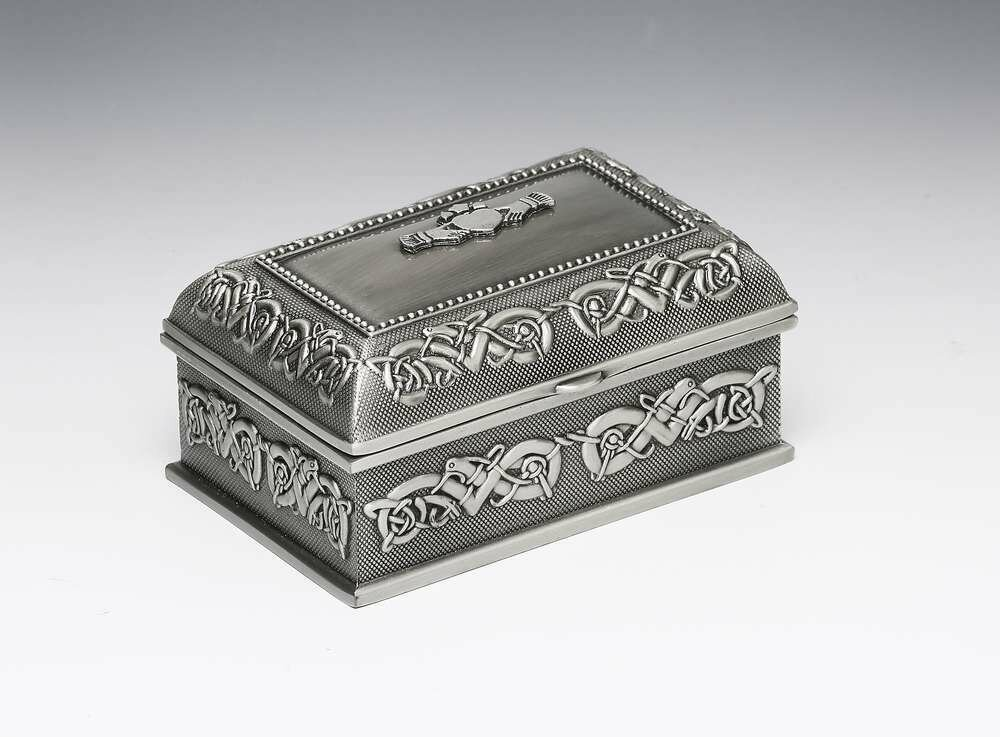 Mullingar Pewter Claddagh Jewellery Box- Small