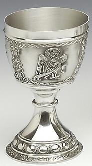 "Mullingar Pewter Evangelist Goblet (8oz)- John ""The Eagle"""