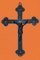 "Orthodox Antique Brass Crucifix- 10.5"""