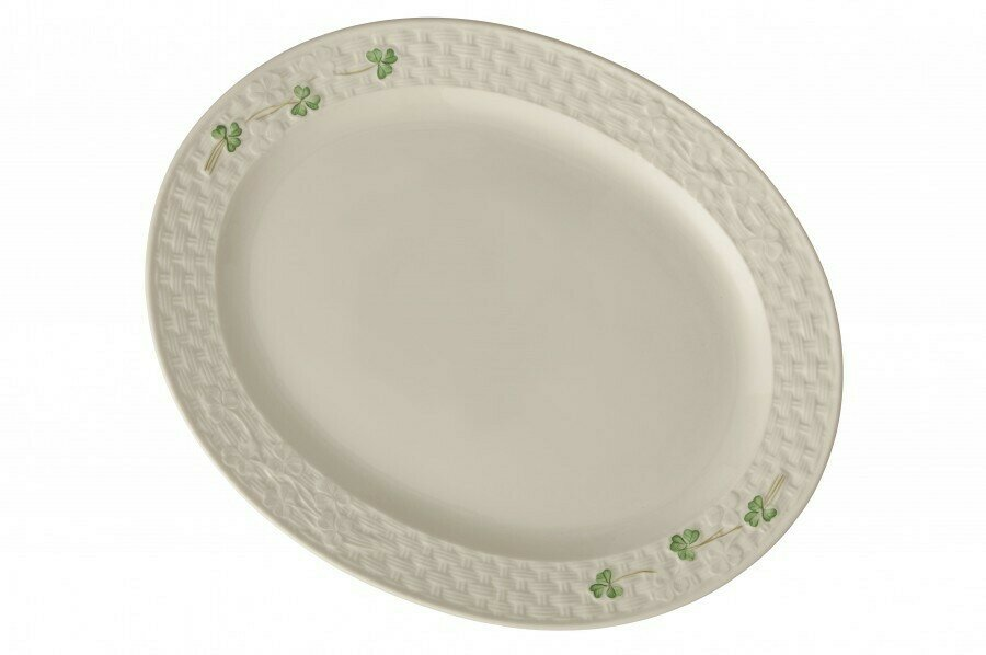 Belleek Shamrock Large Oval Platter