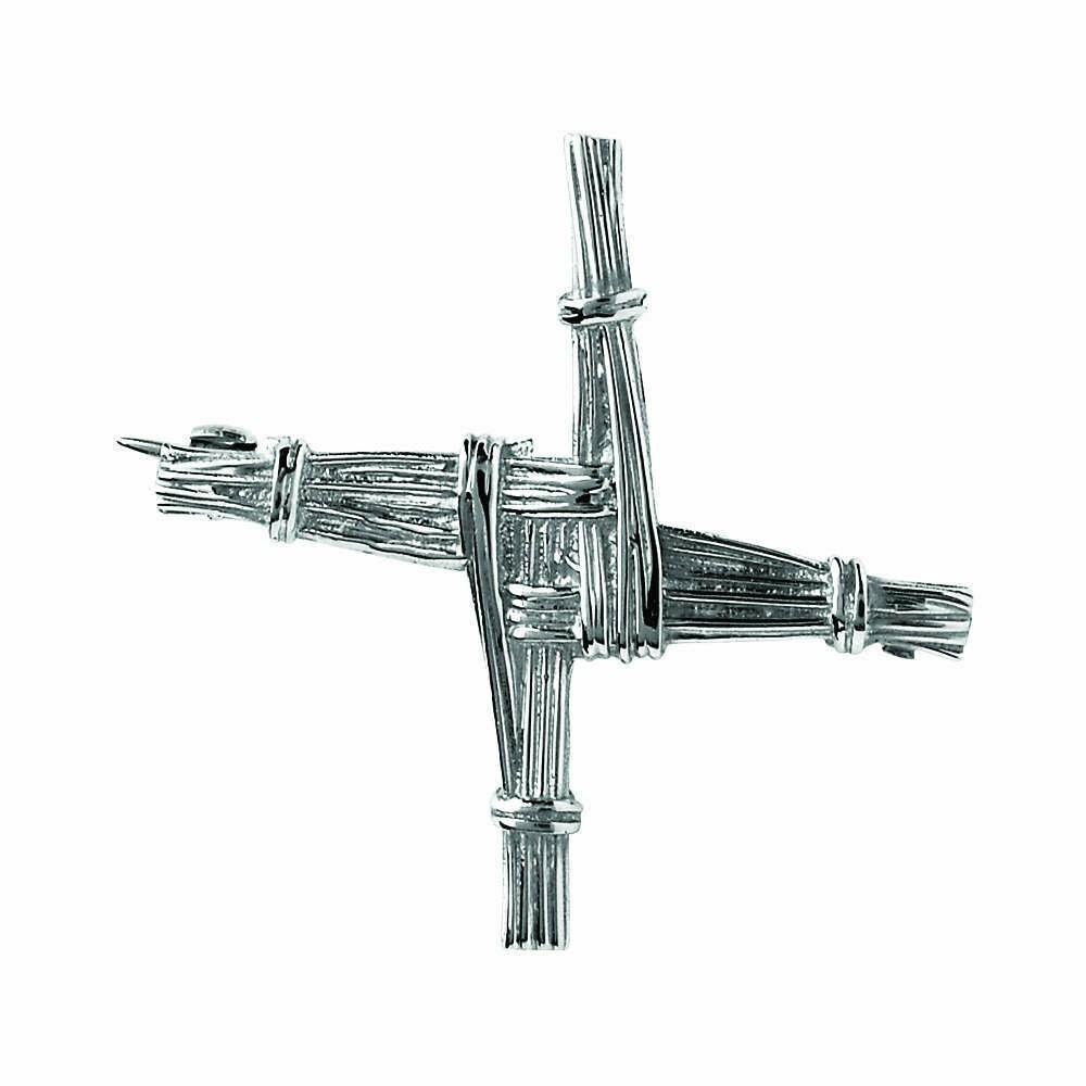 Sterling Silver St. Bridget's Cross Brooch- Large