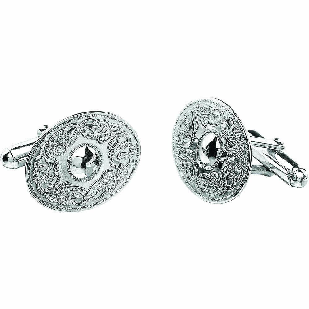 Sterling Silver Original Celtic Warrior® Cufflinks- Oval