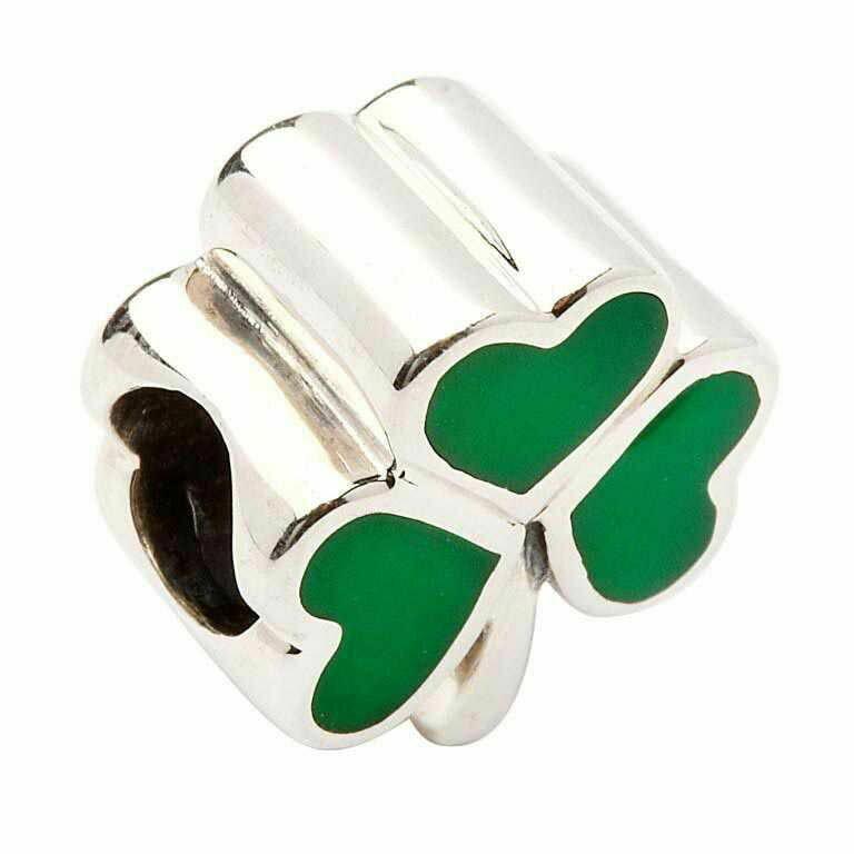 Shamrock Green Enamel Bead