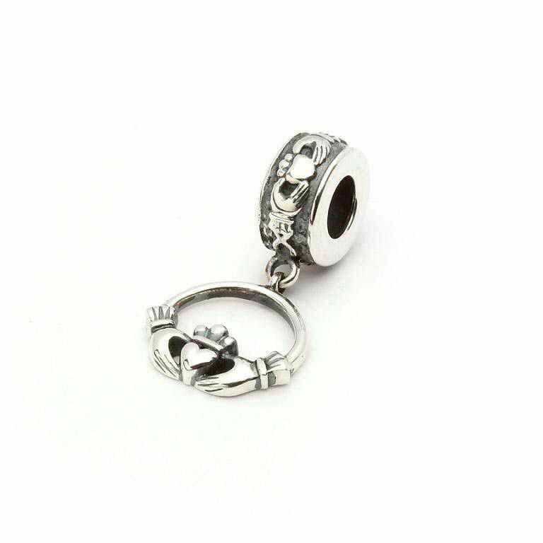 Sterling Silver Claddagh Drop