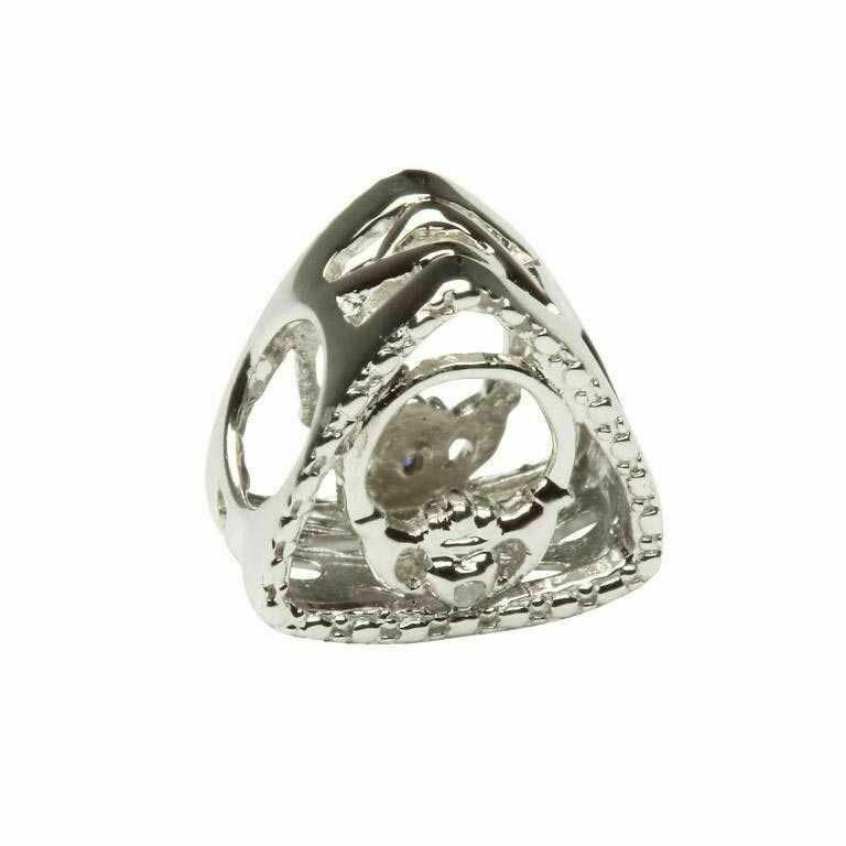 Diamond Set Claddagh Triangle
