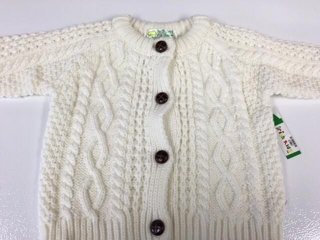 Baby Cardigan Acrylic Aran Sweater