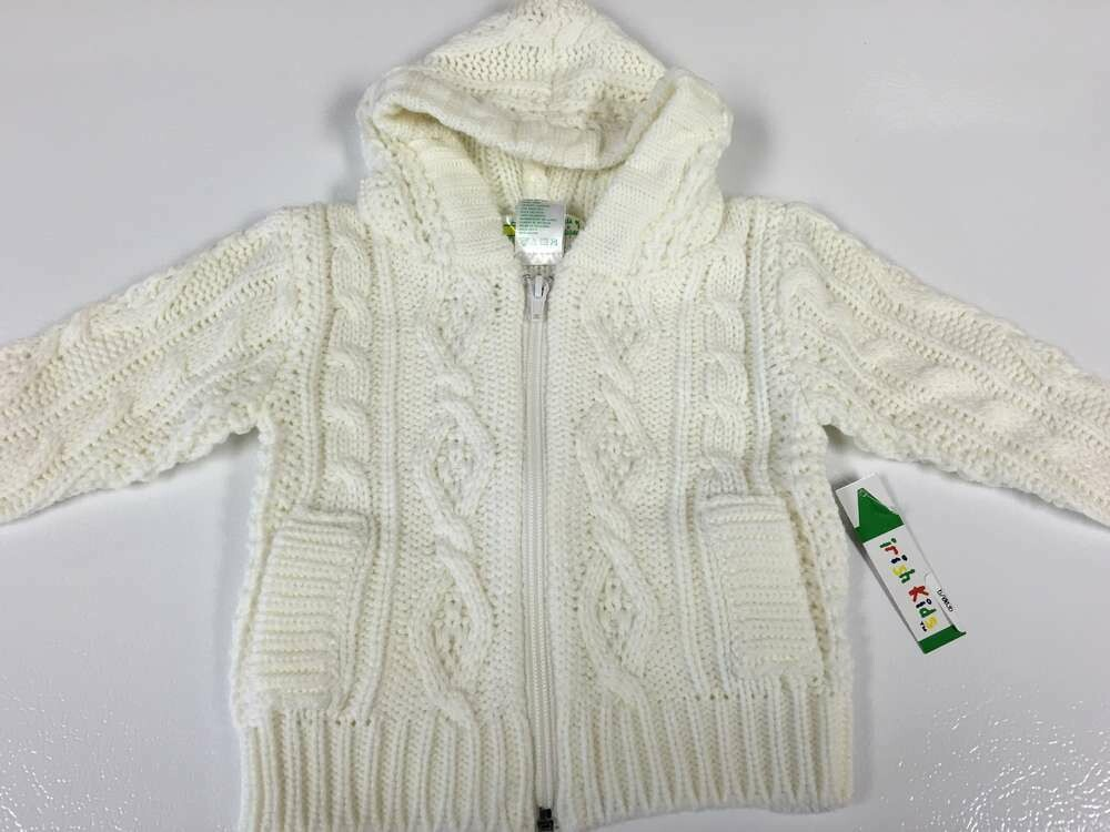 Baby Zipper Acrylic Aran Sweater