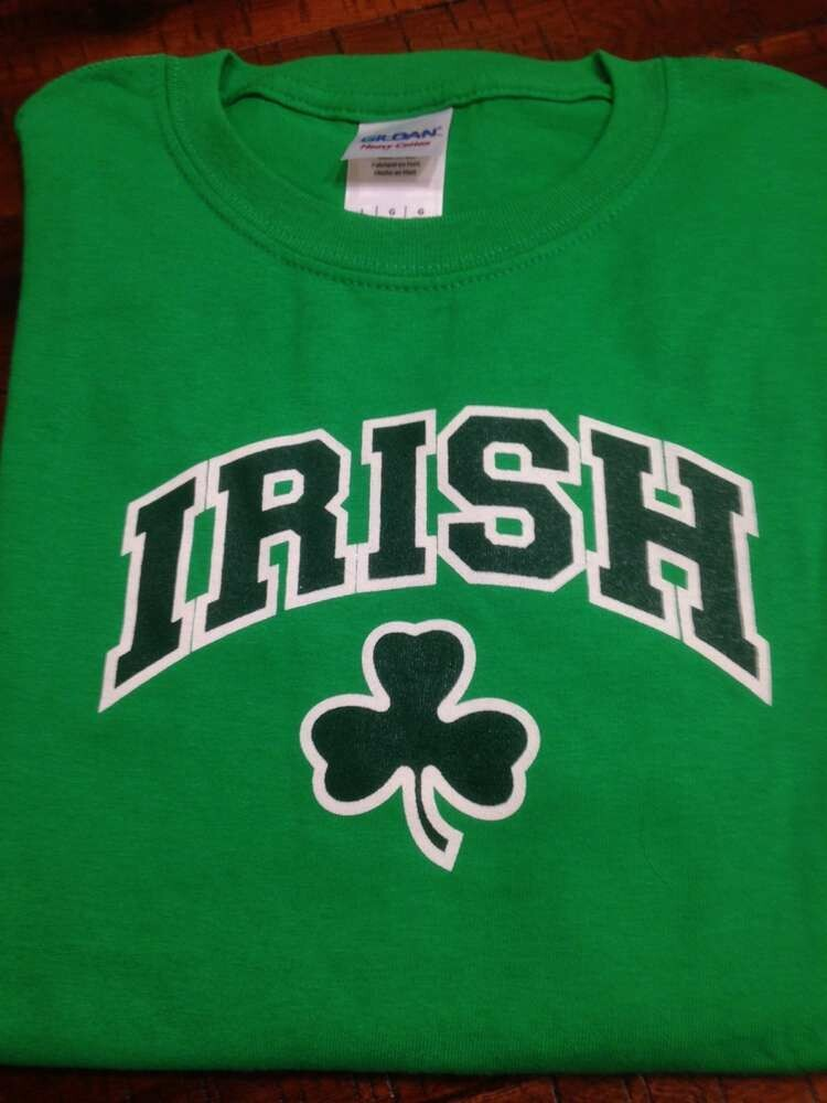 Children's Kelly Green Irish Shamrock T-Shirt
