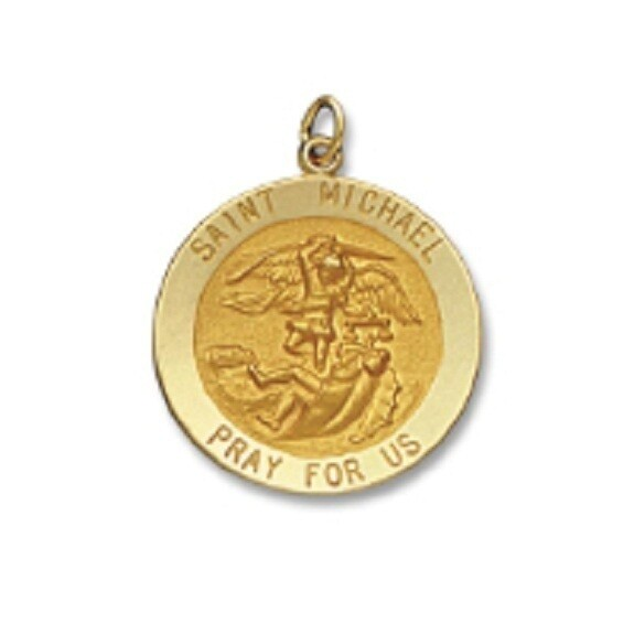 "1"" Diameter 14kt Solid Gold Medal of Your Choice"